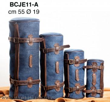 Sattelrolle maxi aus Jeans Stone Wash