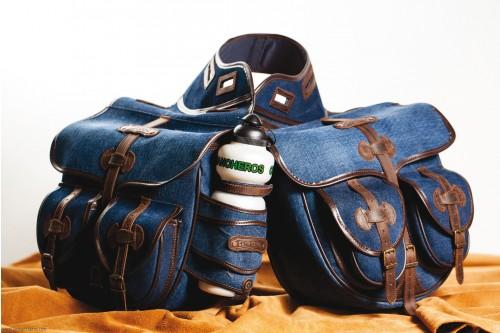 Satteltasche Trekking aus Jeans