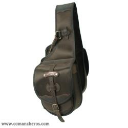 Kleine Satteltasche für vorne aus wasserfestem Cordura STC und Leder