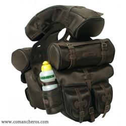 Größe Satteltasche aus Cordura STC und Leder für Trekkingsättel