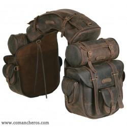 Ganz besondere komplett ausgestattete Satteltasche aus Leder