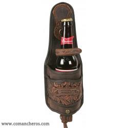 Flaschenhalter  mit ledereinsätze mit exklusivem Design