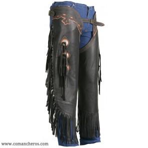 Chinks Western-Stil aus Nappaleder
