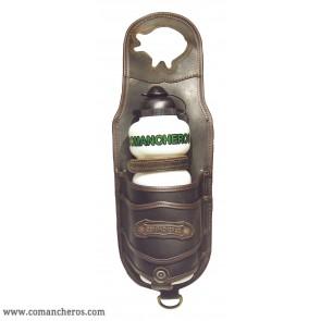 Feldflaschenhalter Leder am Horn