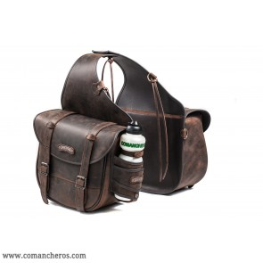 Große hintere Satteltasche aus Leder