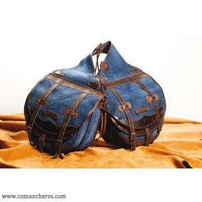 Hintersatteltaschen für den Reitsport aus Jeans