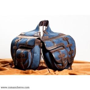 Hintersatteltaschen für den Reitsport mit Taschen aus Jeans