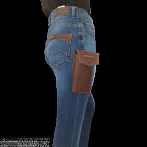 Jeans mit Handyhalter