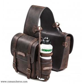 Mittlere Satteltasche aus Leder hinten