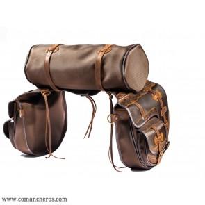Pferde Satteltaschen mit Tasche und Rolle