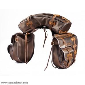 Pferdesatteltaschen mit tasche und Banane