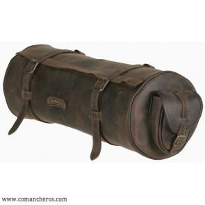 Rolltasche aus Leder mit swei taschen