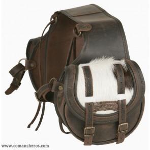 Runde hintere Satteltaschen mit Fell