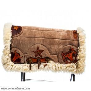 Satteldecke aus Wildleder für das Pferd
