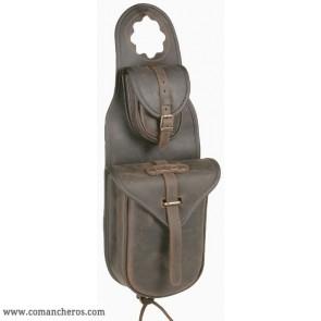 Satteltasche für Westernsättel mit doppelter Tasche