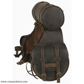 Satteltasche für Westernsattel mit Rolle