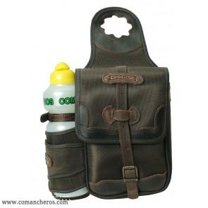 Satteltasche quadratisch mit Feldflaschenhalter