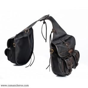 Satteltaschen für Reitsport mit vier kleinen Taschen