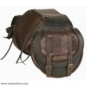 Satteltaschen klappe aus Relief Leder