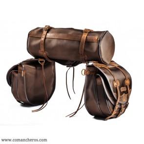 Satteltaschen mit Doppeltasche und Rollo