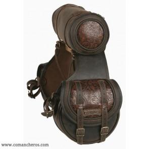 Satteltaschen mit Leder in Relief und Rolle