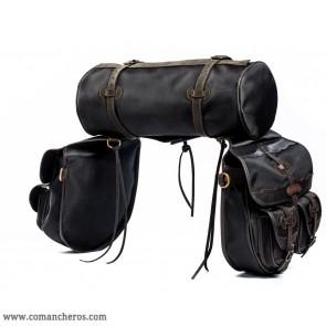 Satteltaschen mit Taschen und Rolle
