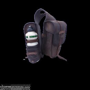 Satteltaschen mit Wasserflasche